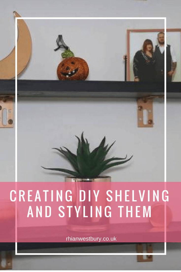 Do you fancy creating DIY shelving and styling them?