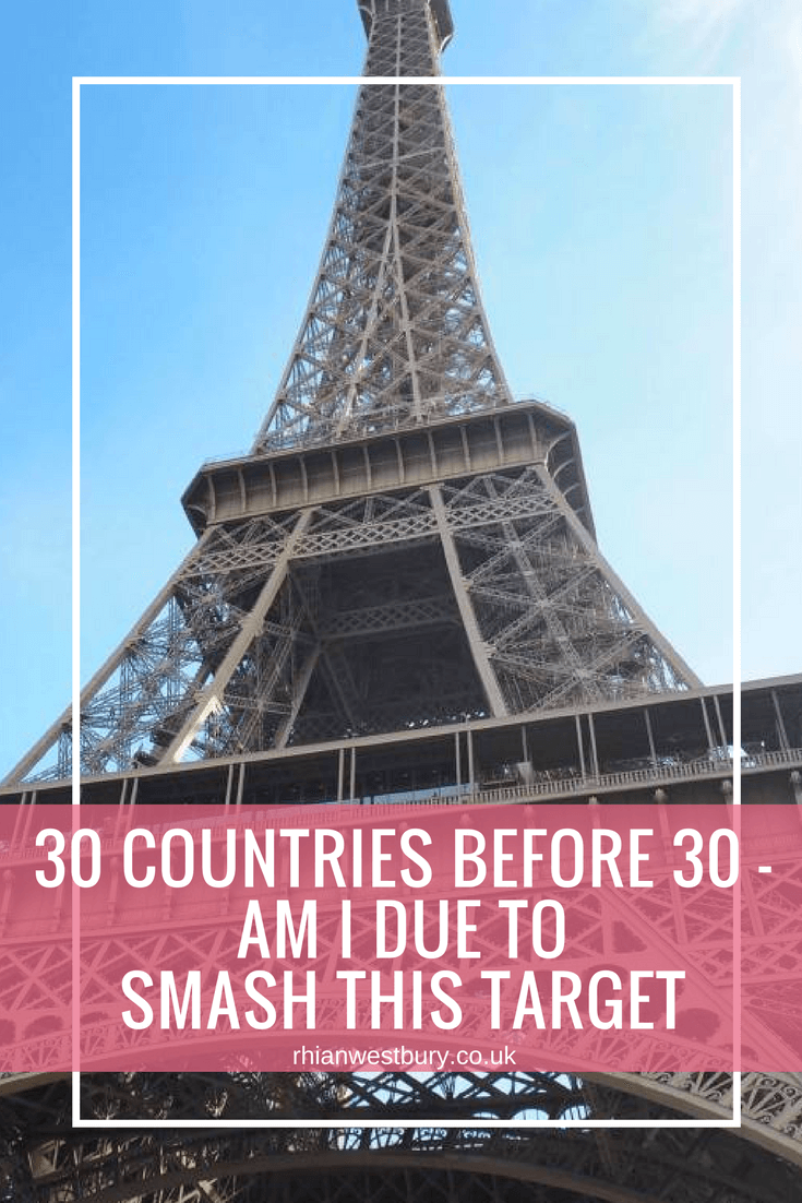 Do you have a travel bucket list? I want to hit 30 before i'm 30, will I smash this target though?