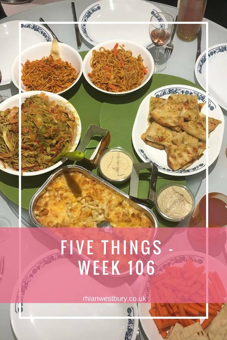 Five Things - Week 106. Check out what I've got up to over the past few weeks including a trip to New York!