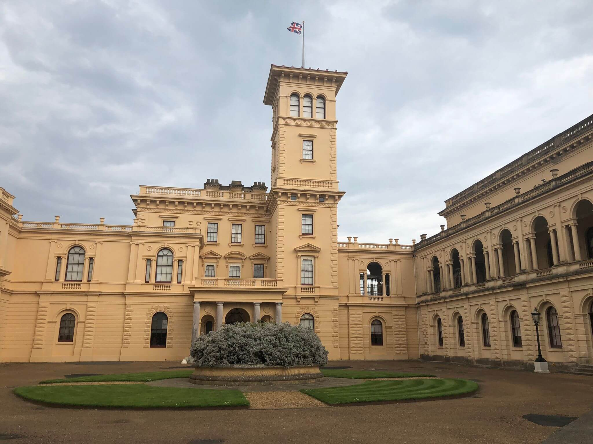 outside view of osborne house on the isle of wight