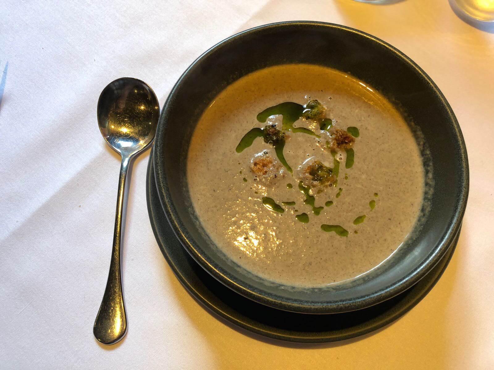 stockbridge restaurant - mushroom soup starter