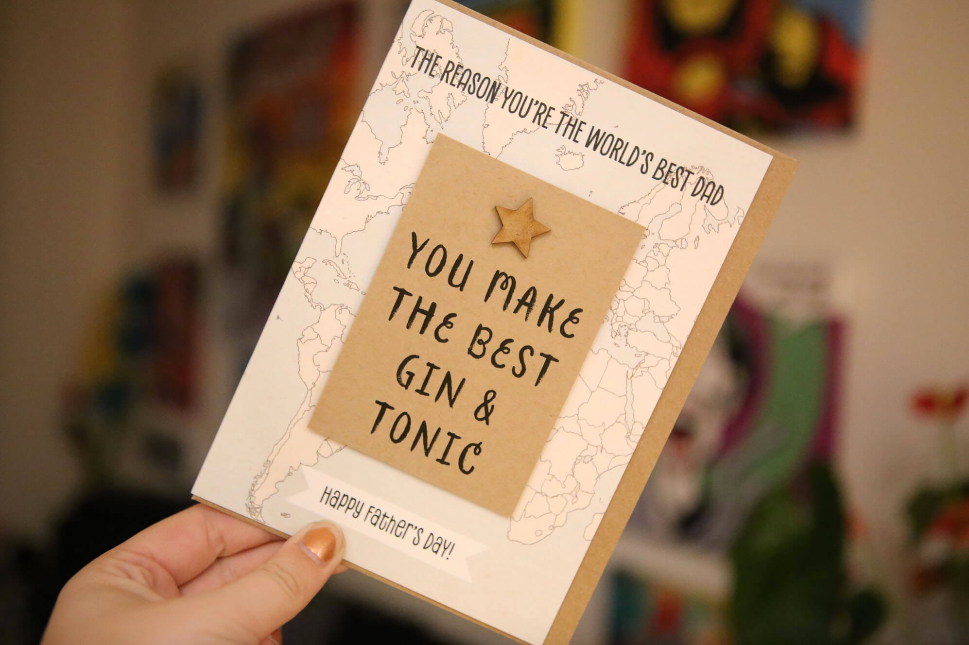 Gin and Tonic Fathers Day Card