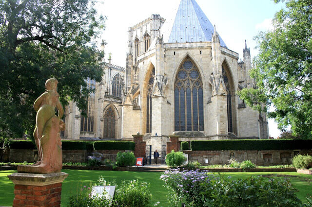 view of york minster from the gardens