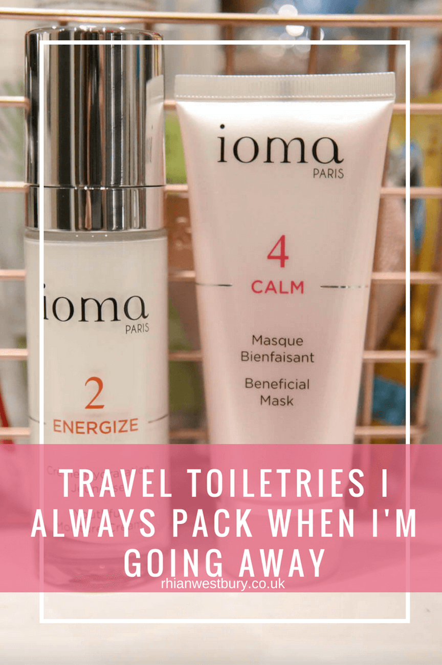 Travel toiletries I always pack when I'm going away