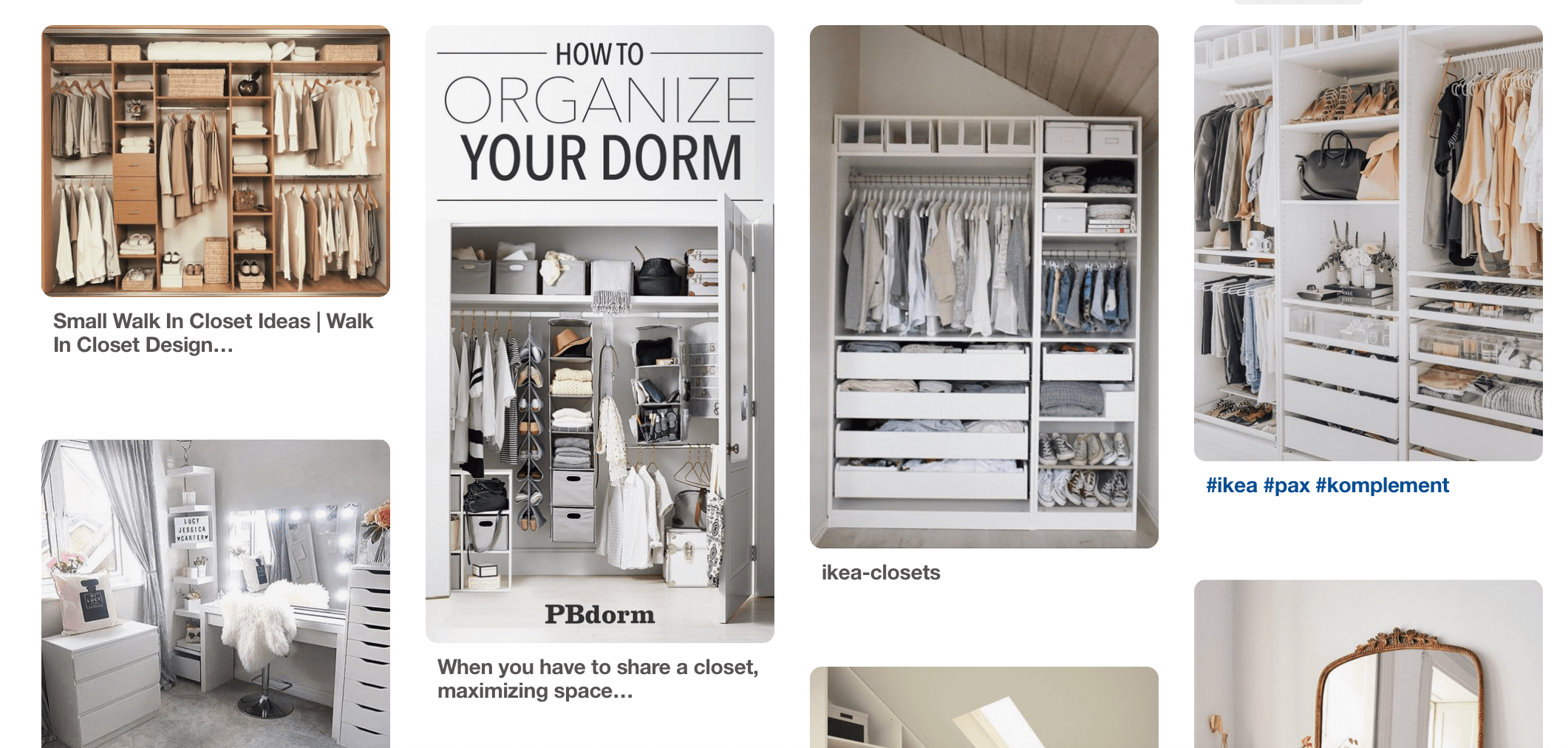 wardrobe storage inspiration