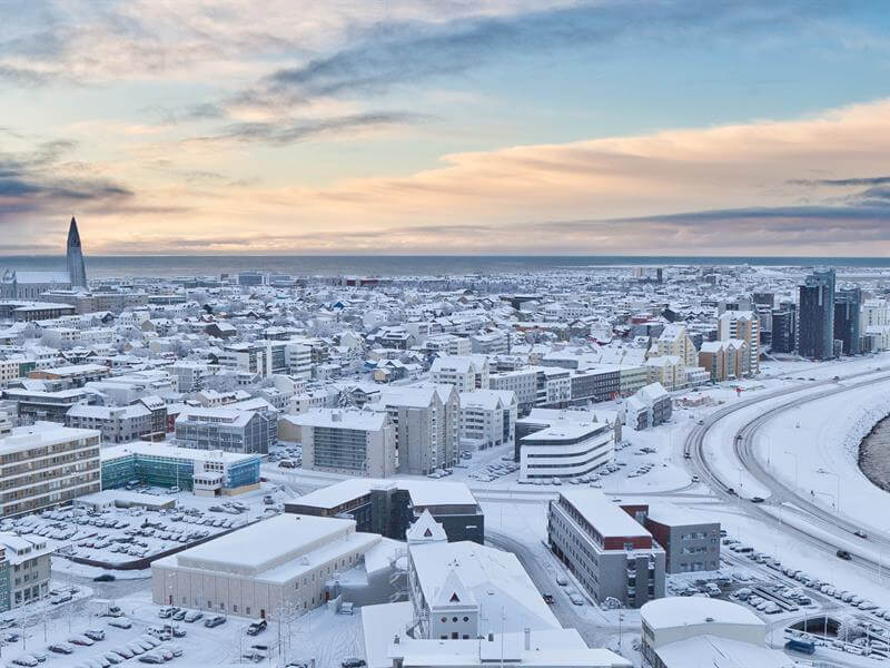 reykjavik under snow