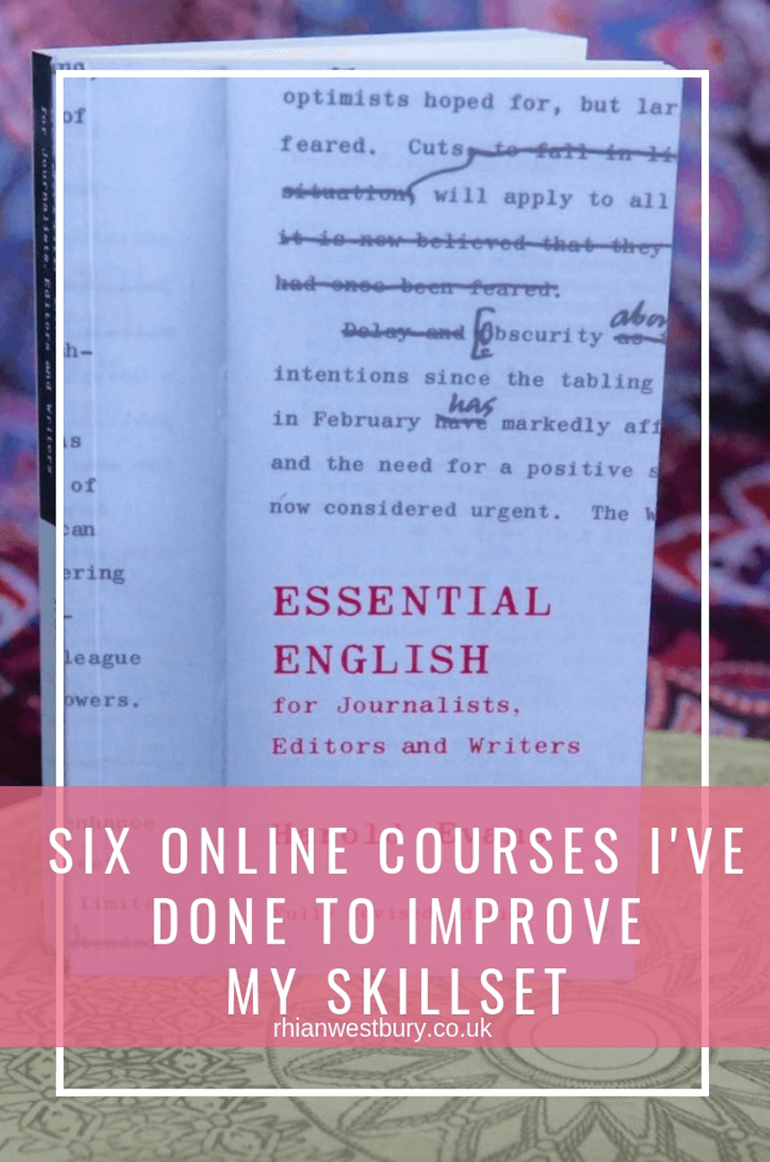 Six online courses I've done to improve my skill set
