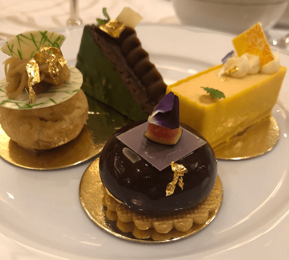 cakes from the dorchester afternoon tea