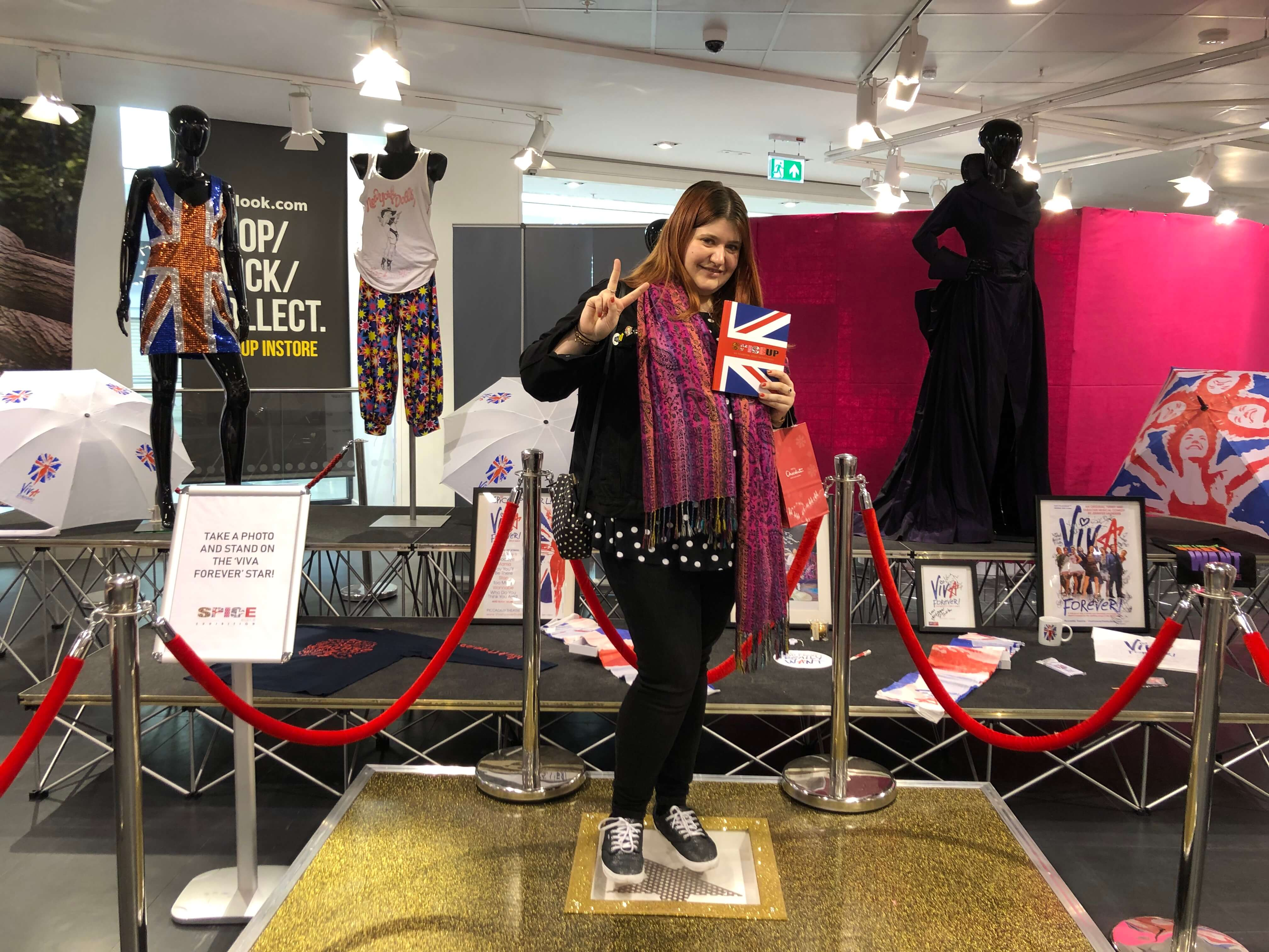 Me at the Spice Girls Exhibition